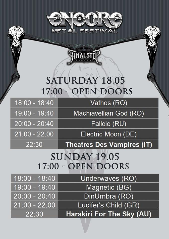 Program Encore Metal Festival in club Quantic
