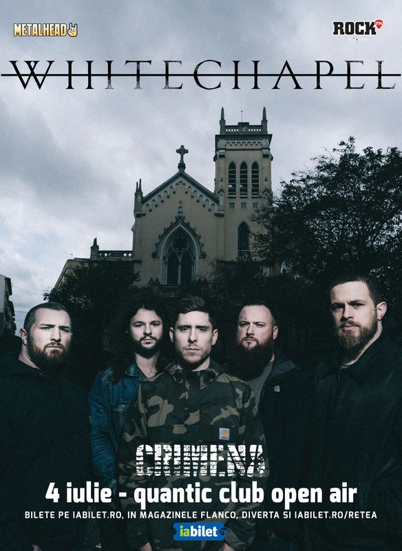 Trupa Crimena canta in deschidere la Whitechapel