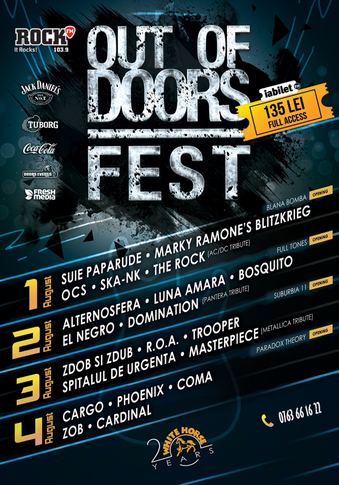 4 zile de festival și 24 de trupe invitate la Out Of Doors Fest, ediția a 7-a