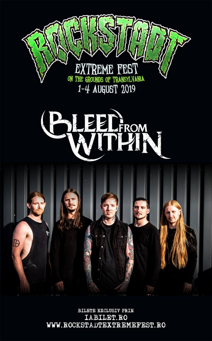 Bleed From Within vor canta in locul trupei Unearth la Rockstadt Extreme Fest 2019