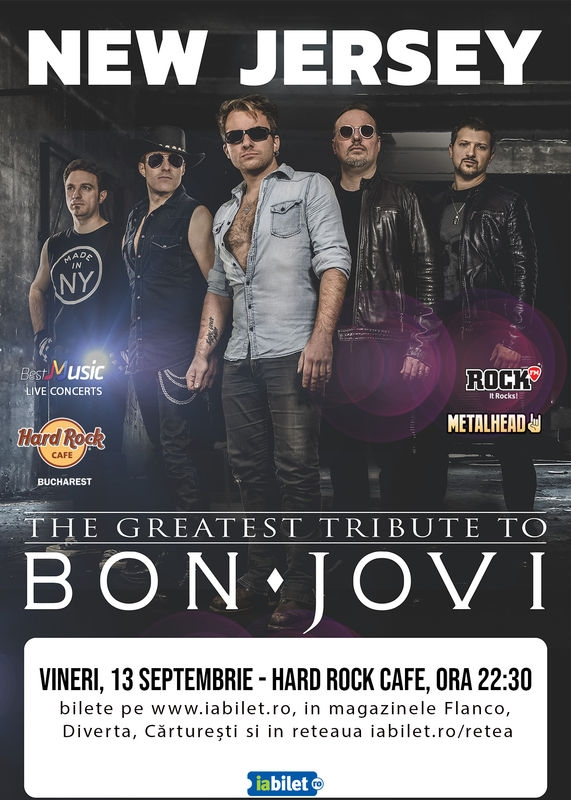Concert New Jersey - Best Bon Jovi Live Tribute la Hard Rock Cafe, București
