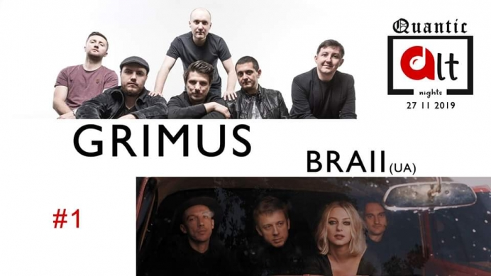 Concert Grimus si BRAII in club Quantic, in cadrul ALT Nights