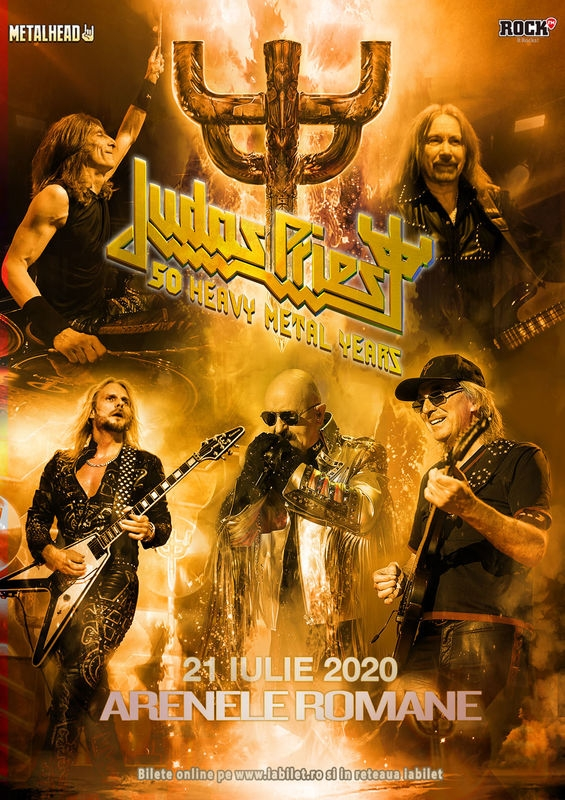 Concert Judas Priest - 50 Heavy Metal Years la Arenele Romane