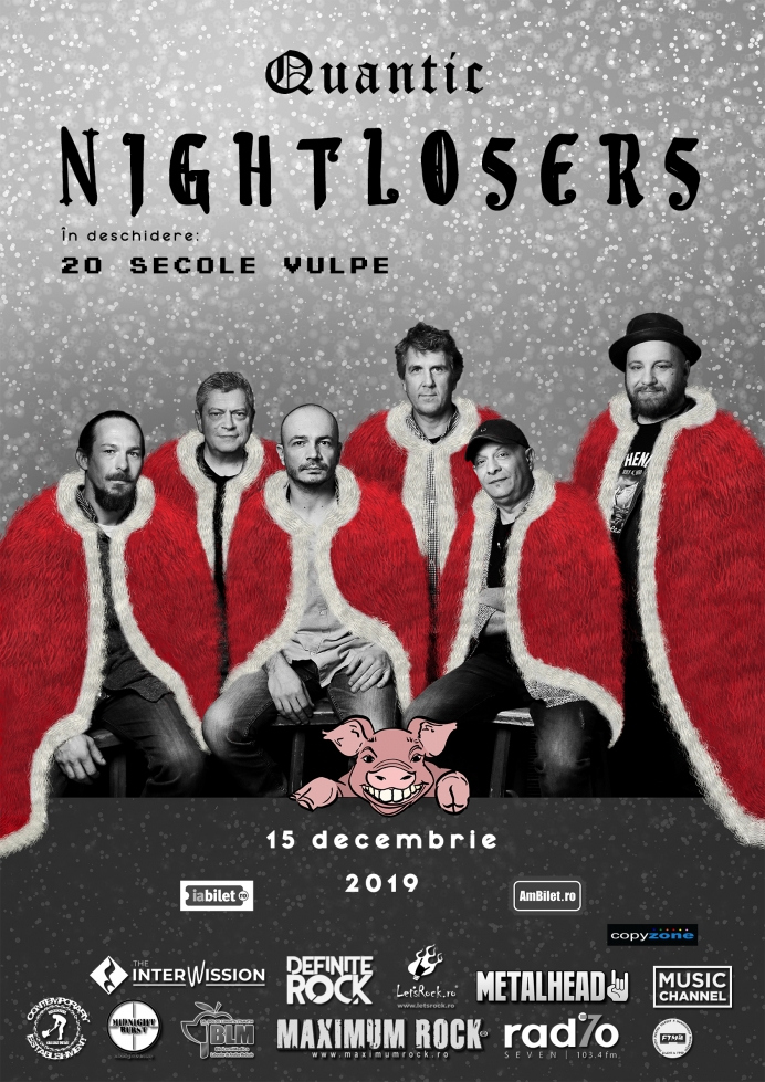 Concert Nightlosers și 20 secole vulpe în Club Quantic