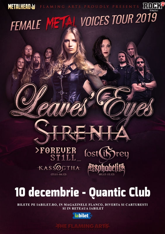The Female Metal Voices Tour ajunge la București, în Club Quantic