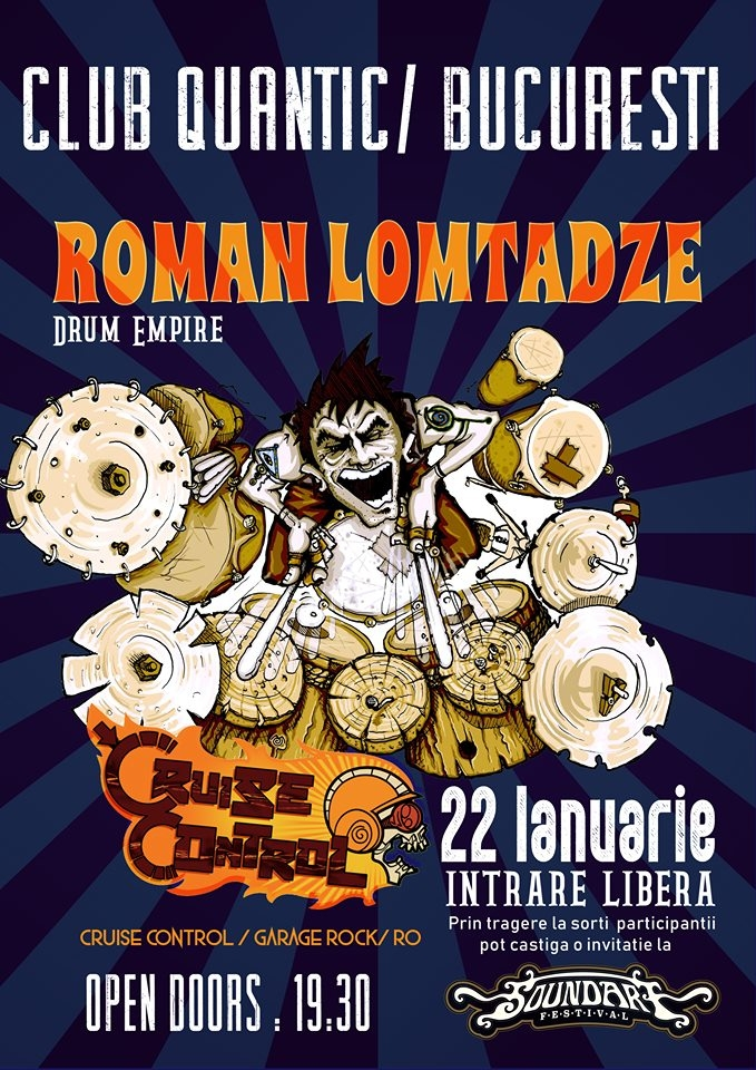 Concert Roman Lomtadze Drum Empire si Cruise Control - Warm-Up Party SoundArt Festival
