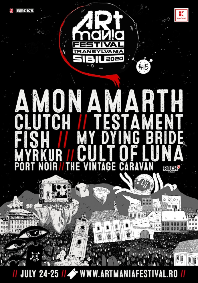 Fish, Port Noir si Testament sunt confirmati in line-up-ul ARTmania Festival 2020