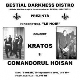 KRATOS, Marsyas, Comandorul Hoisan (Metal Under Moonlight I, 30.09.2000)