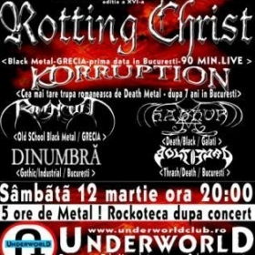 ROTTING CHRIST, Korruption, Ravencult, Hathor, DinUmbra, Bolthard (Metal Under Moonlight XVI, 12.03.2005)