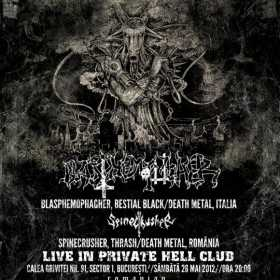 Concert Blasphemophagher si Spinecrusher in Private Hell din Bucuresti