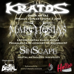 KRATOS, Marchosias, Sinscape (Metal Under Moonlight XXX, 10.11.2012)