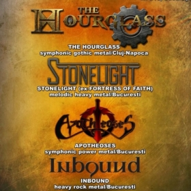THE HOURGLASS, StoneLight, Apotheoses, InBound (Metal Under Moonlight XXXIV, 05.10.2013)