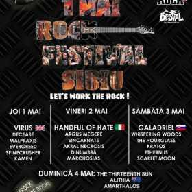 Festivalul '1 Mai Rock' confirmat la Sibiu pentru perioada 1-4 mai 2014