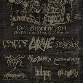 Trupele Cancer si Deathstorm confirmate la Romanian Thrash Metal Fest 3rd Edition - Old Grave Fest