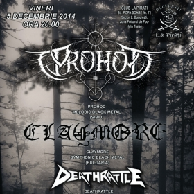 PROHOD, Claymore, Deathrattle (Metal Under Moonlight XLII, 05.12.2014)