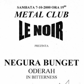 NEGURA BUNGET, Onderah, In Bitterness (Metal Under Moonlight II, 07.10.2000)