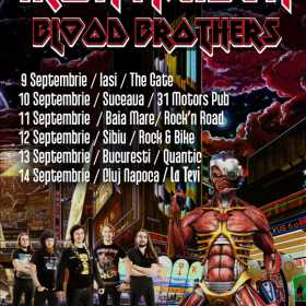 6 concerte Blood Brother (tribut Iron Maiden din Ucraina) in Romania, in luna septembrie
