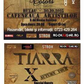 """Autumn Tour """"X"""" al trupei Tiarra se incheie cu concertele de la Buzau si Ramnicu Valcea"""