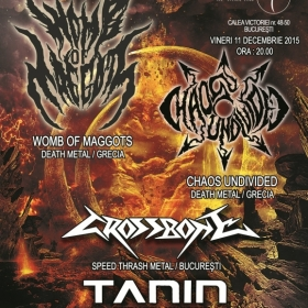 WOMB OF MAGGOTS, Chaos Undivided, Crossbone, Tanin (Metal Under Moonlight LV, 11.12.2015)