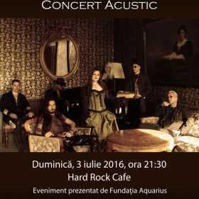 Concert acustic Therion la Hard Rock Cafe
