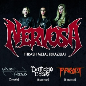 NERVOSA, War-Head, Damage Case, Pyroblast (Metal Under Moonlight LVIII, 26.06.2016)