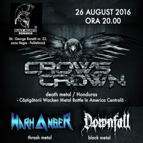 CROWS CROWN, Warhanger si Downfall (Metal Under Moonlight LIX, 26.08.2016)