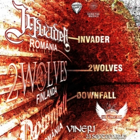 INVADER, 2 Wolves, Downfall (Metal Under Moonlight LXI, 23.09.2016)