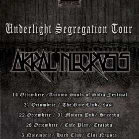 Trupa Akral Necrosis promoveaza noul album in cadrul 'Underlight Segregation Tour'