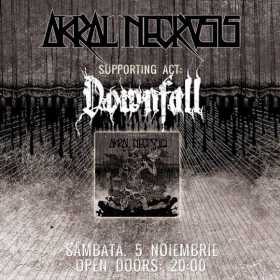 Concert Akral Necrosis si Downfall in Hard Club la Cluj Napoca