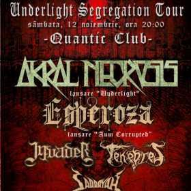 Programul concertului de lansare Akral Necrosis de sambata din Quantic Club