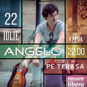 Angelo concerteaza pe terasa Hard Rock Cafe