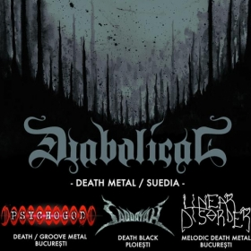 DIABOLICAL, Psychogod, Saddayah, Linear Disorder (Metal Under Moonlight LXX, 02.08.2017)