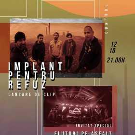 Implant pentru Refuz si invitatii lor, Fluturi pe Asfalt, canta la BT Live