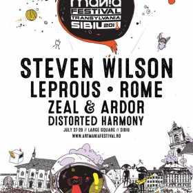 Steven Wilson, Leprous, ROME, Zeal & Ardor si Distorted Harmony sunt primele trupe confirmate pentru ARTmania Festival 2018