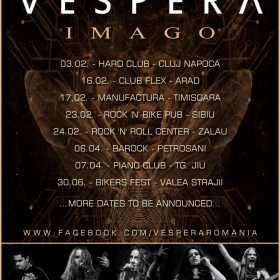 """Vespera lanseaza albumul """"Imago"""" si debuteaza turneul in Hard Club"""