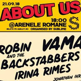 Concert Vama, Robin and the Backstabbers și Irina Rimes la Arenele Romane, București