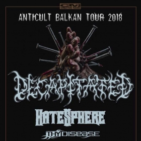 Concert Decapitated, HateSphere, Thy Disease si Grimaze in club Capcana din Timisoara