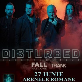 Concert Disturbed, Trank si Fall Has Come la Arenele Romane