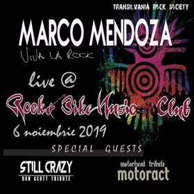 Concert Marco Mendoza in Club Rock & Bike din Sibiu