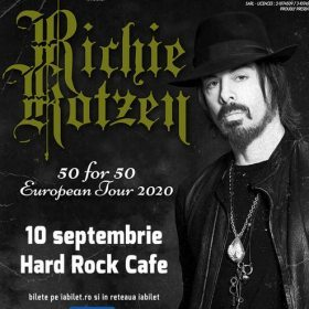 Concert Richie Kotzen: 50 for 50 la Hard Rock Cafe, Bucuresti