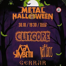 Metal Halloween aduce trupele Clitgore, Apa Simbetii, Váthos si Gerrar pe scena din club Fabrica