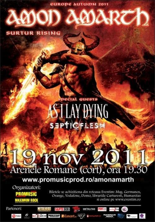 Cronica Amon Amarth, As I Lay Dying si Septic Flesh la Bucuresti