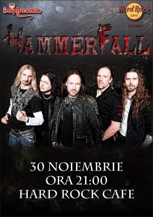 Hammerfall, L.O.S.T. si Blind Spirits in Hard Rock Cafe