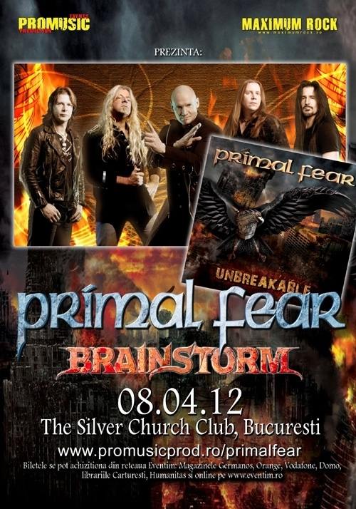 Cronica Primal Fear, Brainstorm si Palace in Silver Church, 8 aprilie 2012