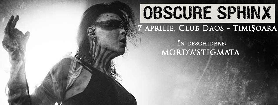 Obscure Sphinx si Mord'A'Stigmata - Daos, Timisoara - 7 aprilie 2017
