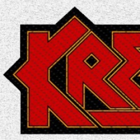 KREATOR - RED LOGO CUT OUT (patch)
